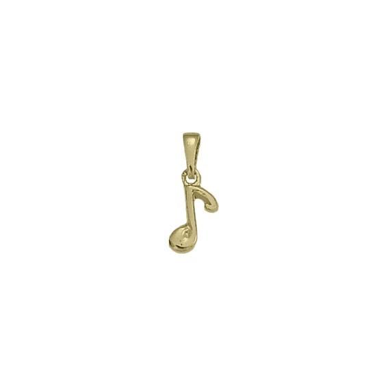 Pendentif note de musique plaqué or -  la Petite Française