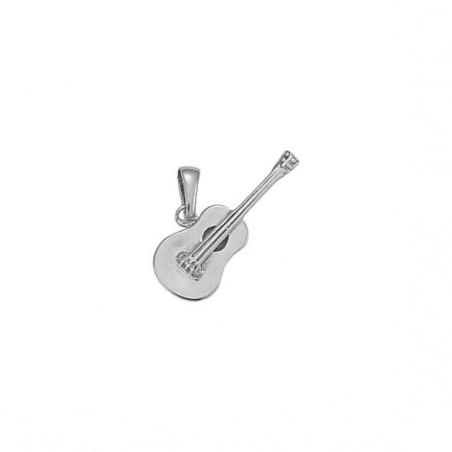 Pendentif guitare argent - 27 MM -  la Petite Française