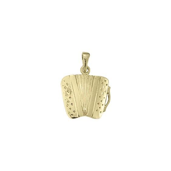 Pendentif accordéon Or 18 carats jaune - 25 MM -  la Petite Française