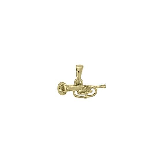 Pendentif trompette Or 18 carats jaune -  la Petite Française
