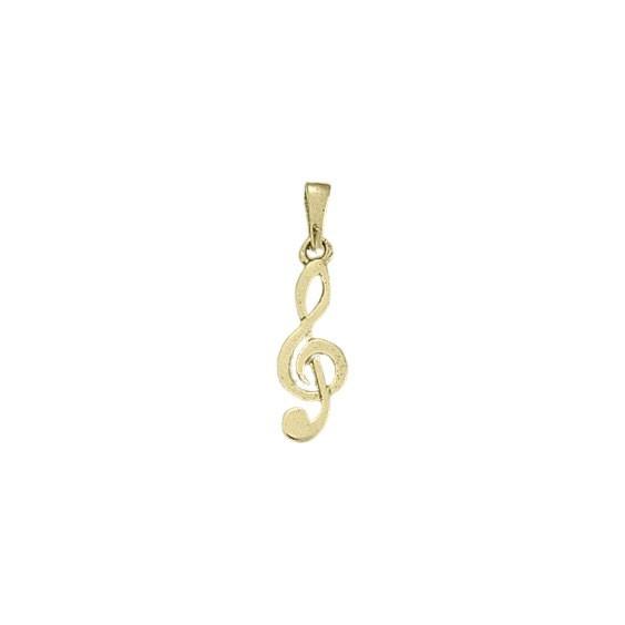 Pendentif clef de sol Or 18 carats jaune -  la Petite Française