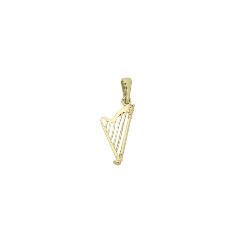 Pendentif harpe PM Or 18 carats jaune -  la Petite Française