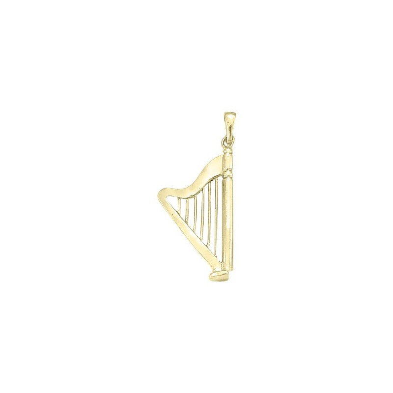 Pendentif harpe GM Or 18 carats jaune -  la Petite Française