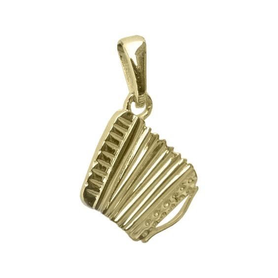Pendentif accordéon MM Or 18 carats jaune -  la Petite Française