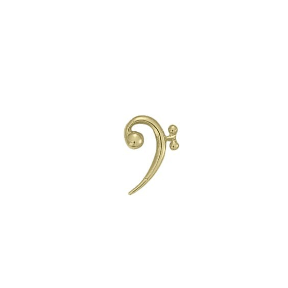 Pendentif clé de fa Or 18 carats jaune -  la Petite Française