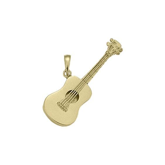 Pendentif guitare Or 18 carats jaune - 40 MM -  la Petite Française
