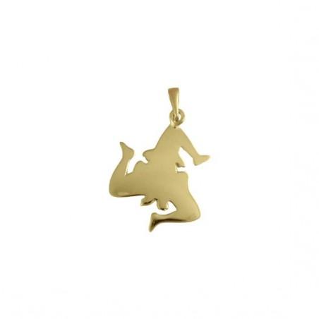 Pendentif Trinacria Or 18 carats jaune -  Bijouterie La Petite Française
