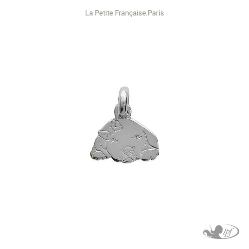 Pendentif chiot beagle argent - La Petite Française