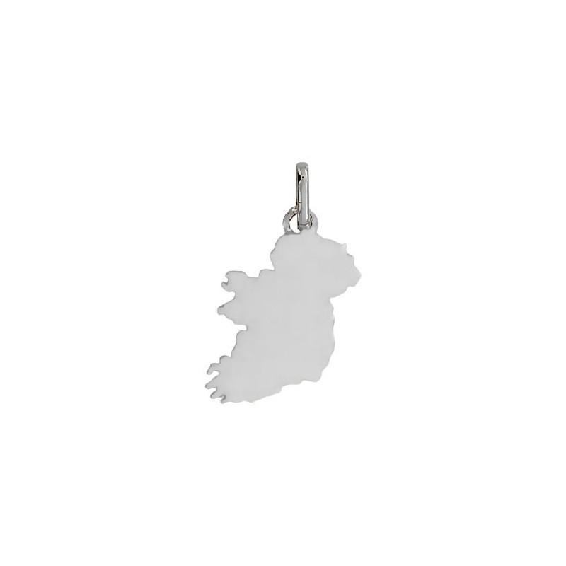 Pendentif carte Irlande Or 18 carats gris -  Bijouterie La Petite Française
