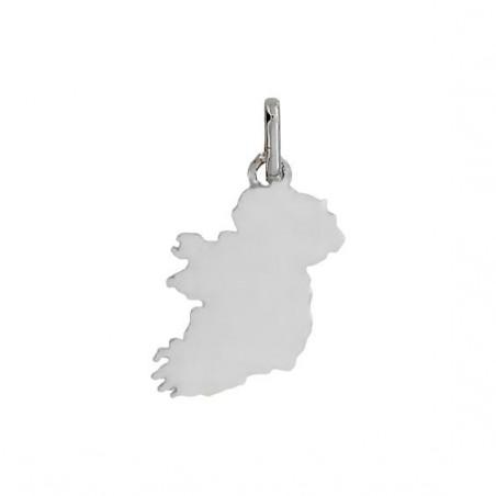 Pendentif carte Irlande Or 9 carats gris -  Bijouterie La Petite Française