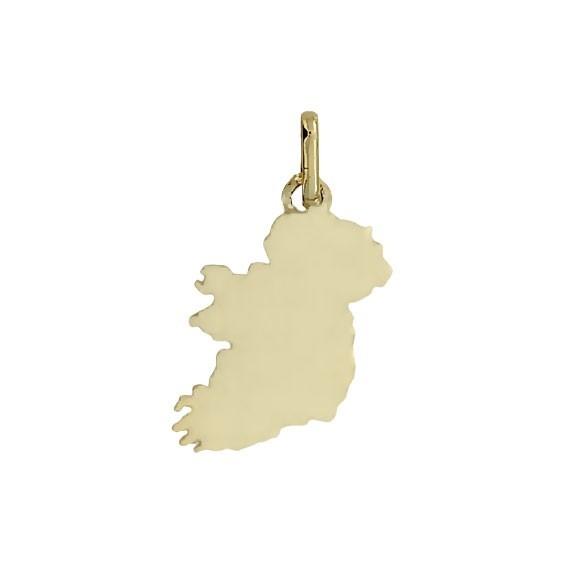 Pendentif carte Irlande Or 9 carats jaune -  Bijouterie La Petite Française