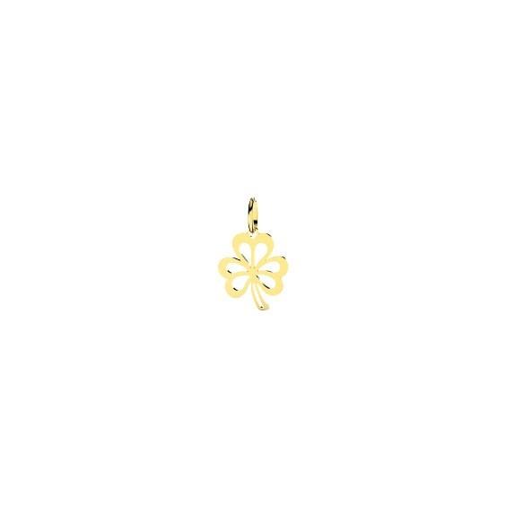 Pendentif trèfle 3 feuilles Or 9 carats jaune -  Bijouterie La Petite Française