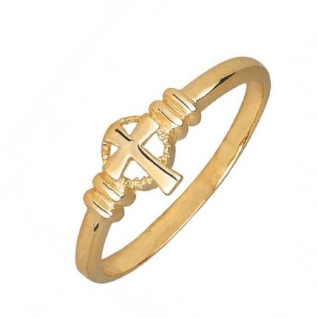Bague croix Celtique plaqué or