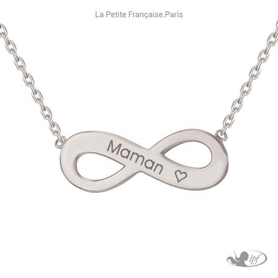 Collier maman infini je t'aime argent - Bijouterie La Petite Française