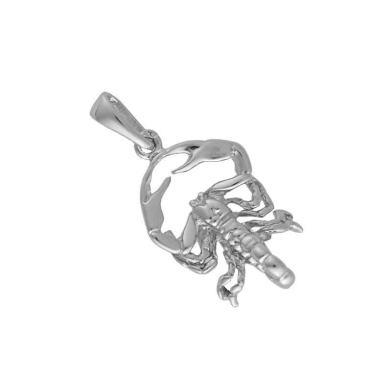 Pendentif scorpion Or 18 carats gris