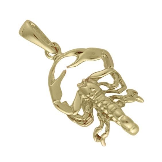 Pendentif scorpion Or 14 carats jaune