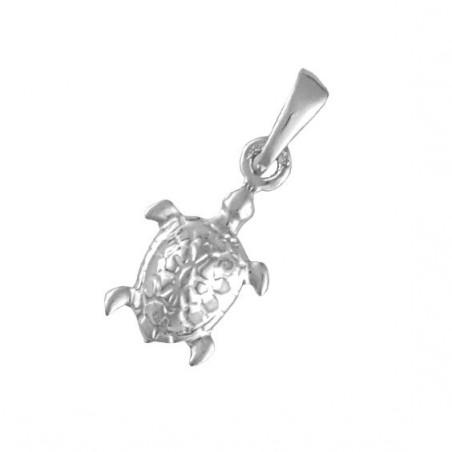 Pendentif tortue de mer Or 18 carats gris - 21 MM  - La Petite Française