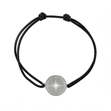 Bracelet cordon boussole Or 9 carats jaune  - La Petite Française