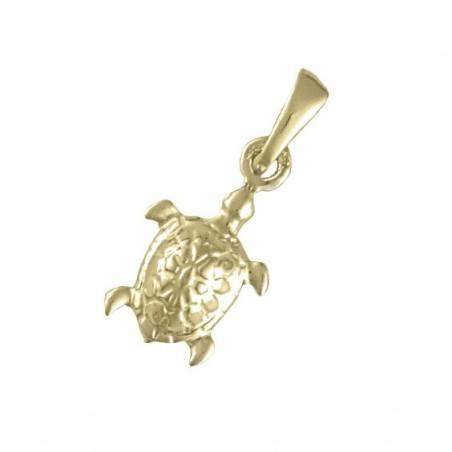 Pendentif tortue de mer Or 9 carats jaune - 21 MM  - La Petite Française