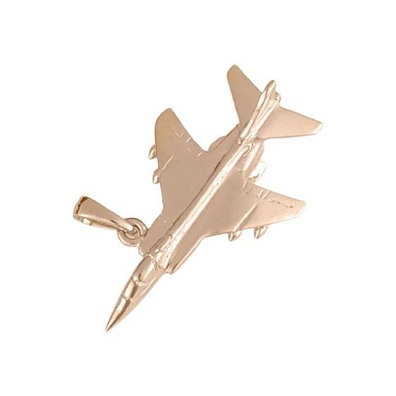 Pendentif avion de chasse Or 18 carats rose  - La Petite Française