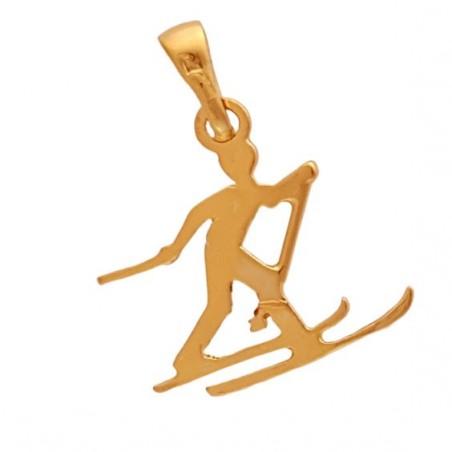 Pendentif skieur de fond Or 14 carats jaune  - La Petite Française