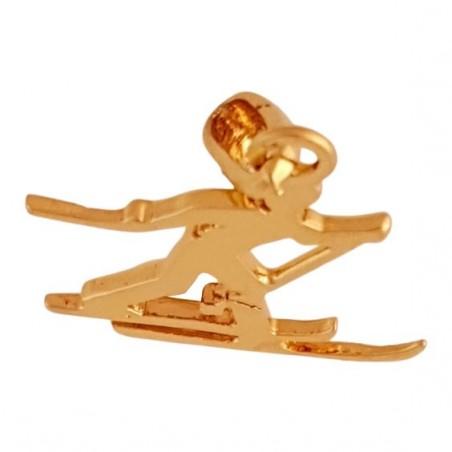 Pendentif skieur de fond Or 18 carats jaune  - La Petite Française