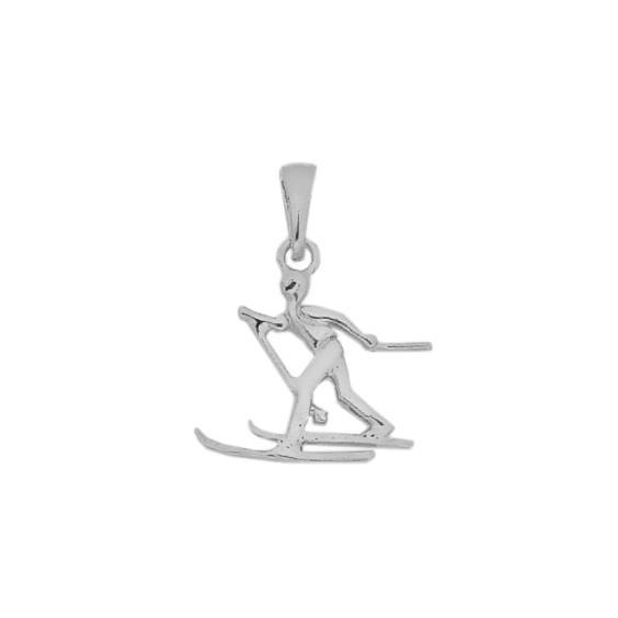 Pendentif skieur de fond Or 14 carats gris  - La Petite Française