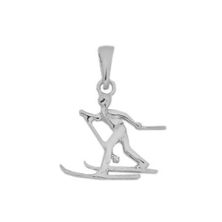 Pendentif skieur de fond Or 18 carats gris  - La Petite Française