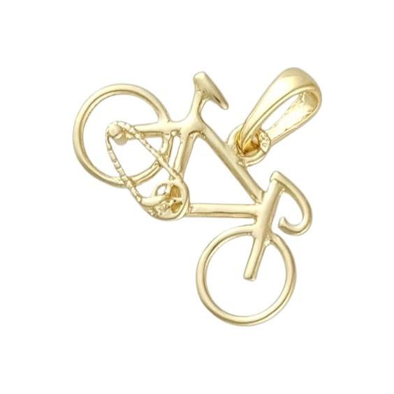 Pendentif vélo Or 18 carats jaune petit modèle  - La Petite Française