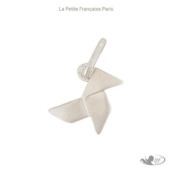 Pendentif cocotte en papier argent - La Petite Française